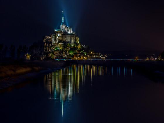 Mont Saint Michel by night