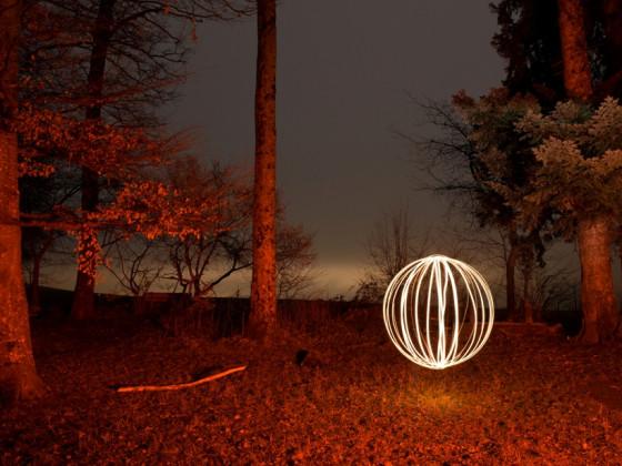Lichtmalen anlässlich fc-Yeti-Brätle