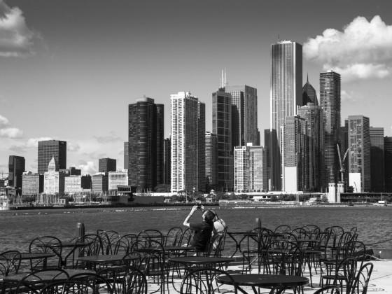 Ein schöner Morgen in Chicago