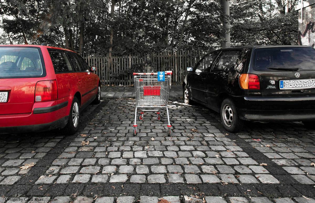 Typisch deutsch, Parkplatzresevierung.