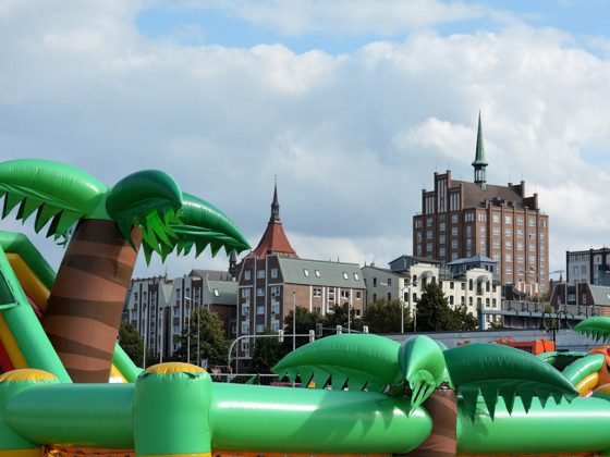 Rostock, Stadt unter Palmen