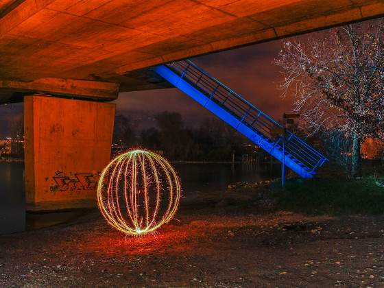 Fireball under the bridge