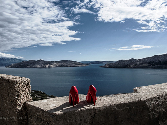 "High Heels auf Reisen /2  "" Welcome to Krk, Croatia """