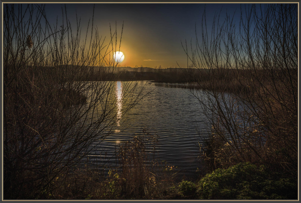 Sonnenuntergang beim Pont de Normandie