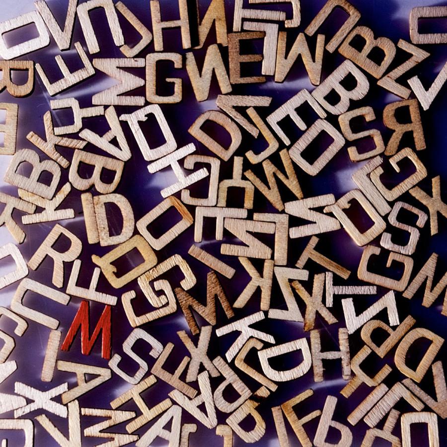 """Buchstabensalat Akzent """"M"""""""