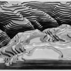 3D-Relief aus Glasplatten