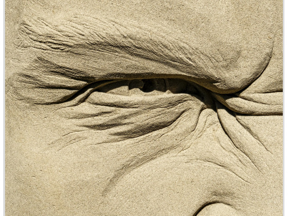 Sand im Auge