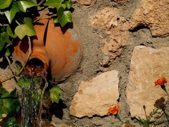 Brunnen in einem Garten