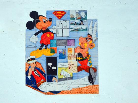 Azulejo-Arbeit von Schulkindern