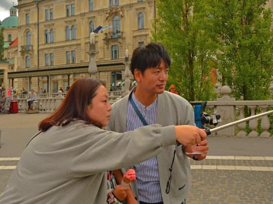 rin Selfy in Ljubljana