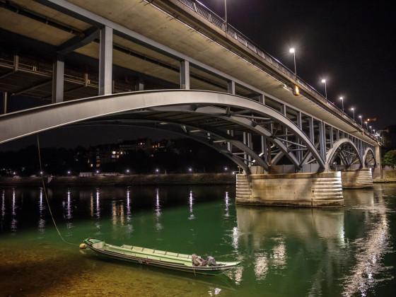 Basler Brücke bei Nacht