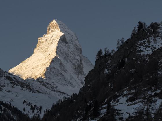 Morgenlicht am Matterhorn