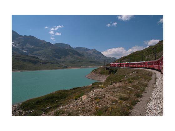 Mit dem Zug über die Alpen