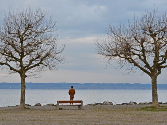 Abendstimmung am Bodensee mit einer Hommage an René Magrite