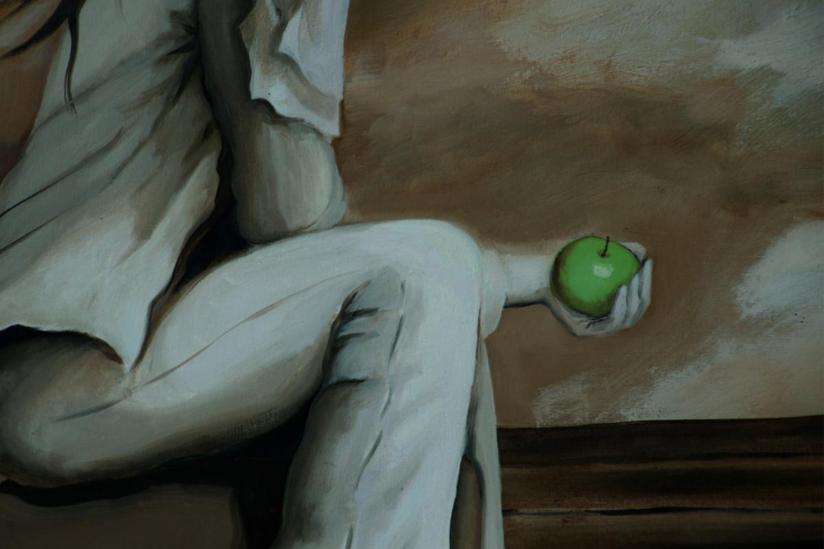 Die Frau mit dem Apfel